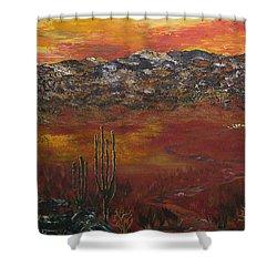 Mystic Desert Shower Curtain by Linda Eversole