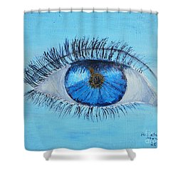 Shower Curtain featuring the painting Mystic Eye by Pamela  Meredith