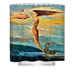 Mystic Mermaid IIi Shower Curtain