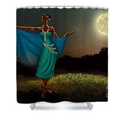 Mystic Moonlight V1 Shower Curtain by Bedros Awak