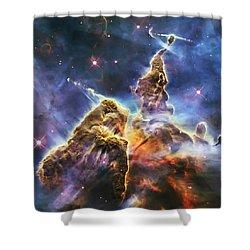 Mystic Mountain Shower Curtain by Adam Romanowicz