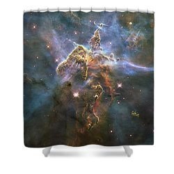 Mystic Mountain Shower Curtain by Nasa