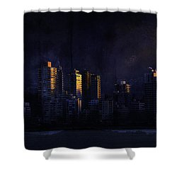 Mystic Orange Glowing Sunrise On Vancouver   Shower Curtain by Peter v Quenter