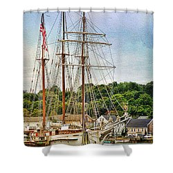 Mystic Seaport  Shower Curtain