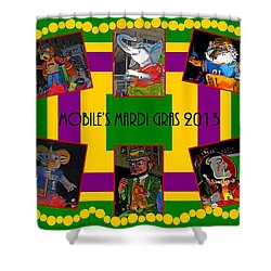 Mystic Stripers Parade Images 2013  Shower Curtain by Marian Bell