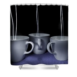Mystic Tea Cups - Light Painting Shower Curtain by Steven Milner
