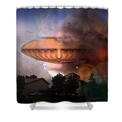 Mystic Ufo Shower Curtain