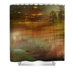 Mystic Wood  Shower Curtain by Martin Slotta