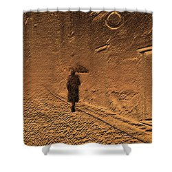 Mystical Journey Of The Shadow Of Your Soul In Extraneous World Shower Curtain by Jenny Rainbow