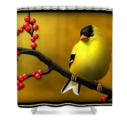 N. American Male Goldfinch Shower Curtain