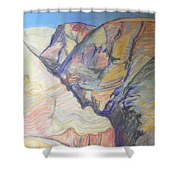 Nachal Darga Canyon Shower Curtain by Esther Newman-Cohen