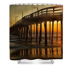 Nags Head Fishing Pier Shower Curtain