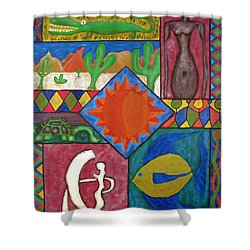 Naive #12 Shower Curtain
