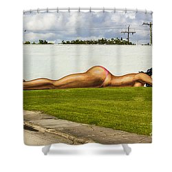 Naked In The Park Shower Curtain