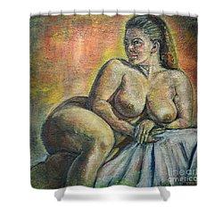 Naked Paris Shower Curtain