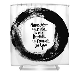 Namaste Enso Shower Curtain