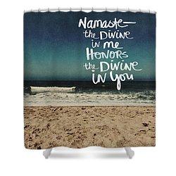 Namaste Waves  Shower Curtain