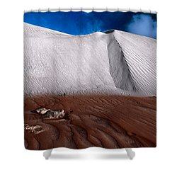 Nambung Desert Floor Shower Curtain