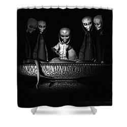 Nameless Faces Shower Curtain by Bob Orsillo