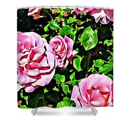 Nana's Roses Shower Curtain