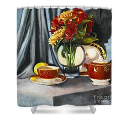 Shower Curtain featuring the painting The Legacy by Marlene Book