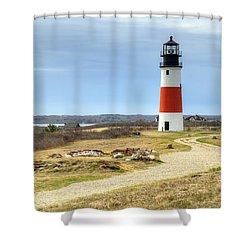 Nantucket's Sankaty Head Light Shower Curtain