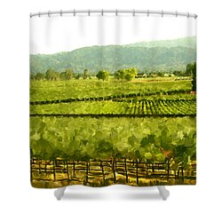 Napa Shower Curtain by Paul Tagliamonte