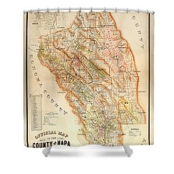 Napa Valley Map 1895 Shower Curtain