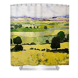 Napa Yellow2 Shower Curtain by Allan P Friedlander