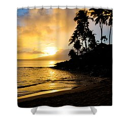 Napili Sunset Evening  Shower Curtain by Kelly Wade
