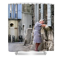 Shower Curtain featuring the photograph Naptime In Arles. France by Jennie Breeze