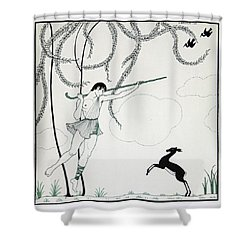 Narcisse Shower Curtain by Georges Barbier