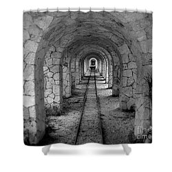 Arched Narrow Gauge Shower Curtain