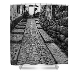 Narrow Street In Cusco Shower Curtain