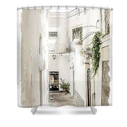 Narrow Walkway Of Capri Shower Curtain