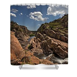 Narrows Canyon In The Wichita Mountains Shower Curtain