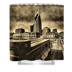 Nashville Grunge Shower Curtain by Dan Sproul