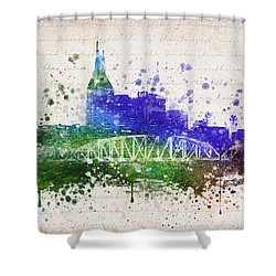 Nashville In Color Shower Curtain by Aged Pixel