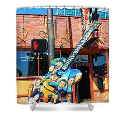 Nashville Legends Guitar Shower Curtain by Dan Sproul