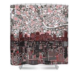 Nashville Skyline Abstract 3 Shower Curtain