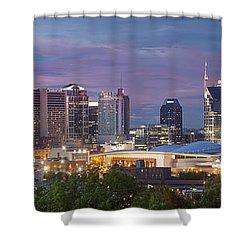 Nashville Skyline Shower Curtain by Brian Jannsen