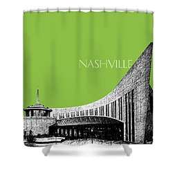 Nashville Skyline Country Music Hall Of Fame - Olive Shower Curtain