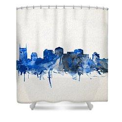 Nashville Skyline Watercolor 11 Shower Curtain