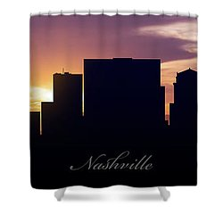 Nashville Sunset Shower Curtain by Aged Pixel