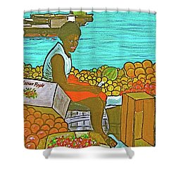 Nassau Fruit Seller Shower Curtain by Frank Hunter