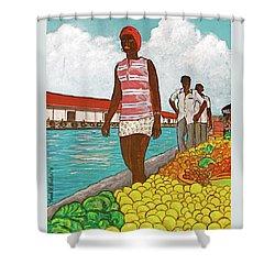 Nassau Woman Shower Curtain by Frank Hunter