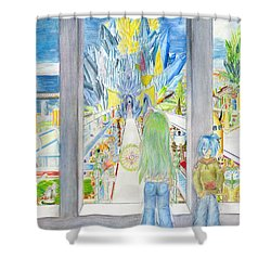 Nastros Shower Curtain by Shawn Dall