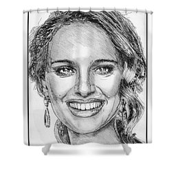 Natalie Portman In 2011 Shower Curtain by J McCombie