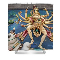 Nataraj Dancing Shiva Statue Shower Curtain by Jit Lim