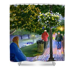 Natchitoches Front Street Cane River Shower Curtain
